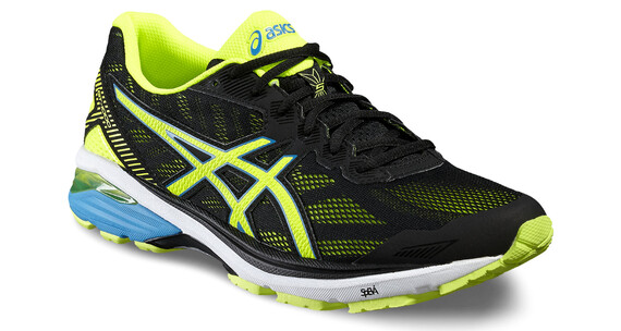 asics GT-1000 5 Shoe Men Black/Safety Yellow/Blue Jewel